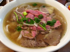 Pho with beef and noodles (via Wikipedia)