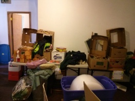 Some of the belongings that are not going with us.