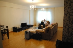 Our living room! That divan is my favorite piece of furniture ever. :)