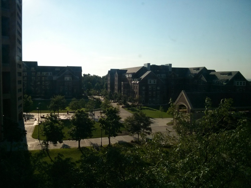 View of campus from our dorm window. This place is beautiful!