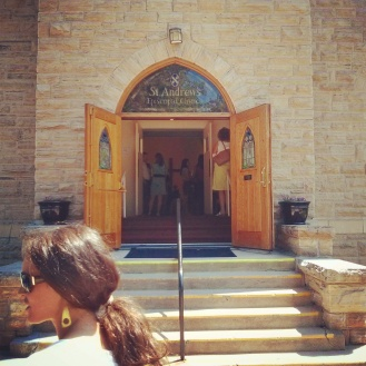 the church entrance