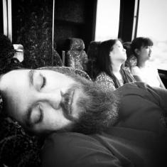 Sleepyheads on the way back to UNC