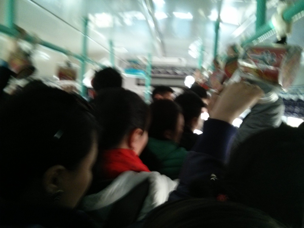 For example: this bus could easily be more crowded than it is already.