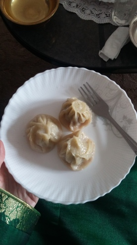 Buuz! These dumplings are a traditional Tsagaan Sar food. Families usually make thousands leading up to the holiday, freeze them, and steam them to cook them before serving.