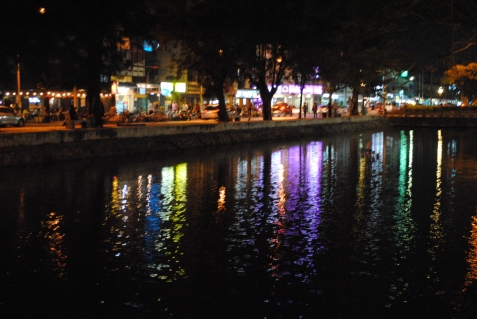 I really liked the lights reflecting on the canal.
