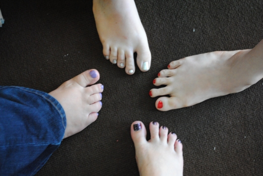 pedicures with some of my friends