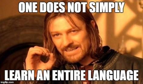 lotr language learning meme